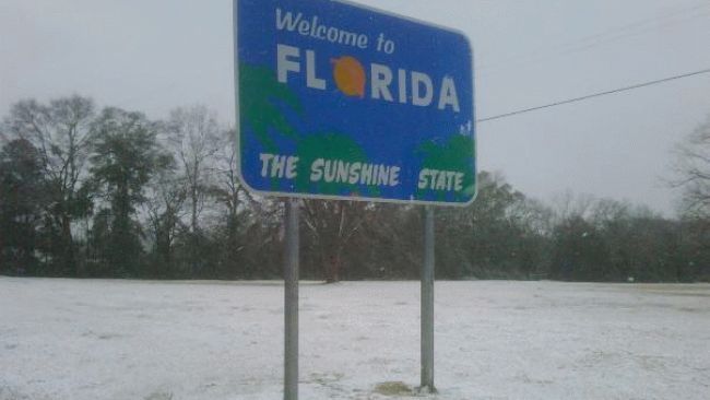 it would be pretty crazy to get snow in the Tampa Bay area in March
